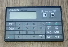 Casio DC-750A DC Data-Cal 50 Card Calculator With Protective Case