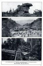 Vogesen Coquin Felsen Naturfestung im Hochwald Historische Aufnahmen von 1915