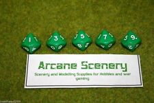 TEN SIDED DICE D10 GREEN Opaque For Wargames & Games Workshop