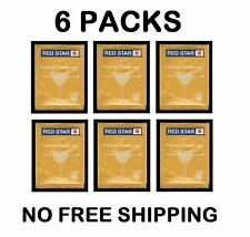 WINE YEAST 6 PK RS BLANC RED STAR PASTEUR CHAMPAGNE FOR SODA FRUIT MOONSHINE