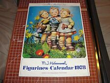 MJ HUMMEL Figurines 1978 Calendar Goebel Collectors Club wrapped - never used