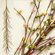 New SPRING PINK PURPLE YELLOW GREEN BERRY GARLAND Swag Primitive Country Pip