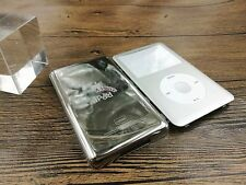 new silve front faceplate metal back housing case for iPod 6th gen classic 120gb