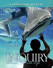 Inquiry Into Life Lab Manual by Sylvia Mader BRAND NEW