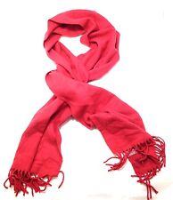 $65 ALFANI MEN'S RED BLACK SOLID TASSEL WARM WINTER CASUAL DRESS SCARF