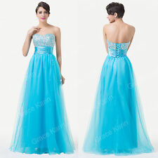Women's Formal Quinceanera Evening Ball Cocktail Prom Bridesmaid Dress Long Gown