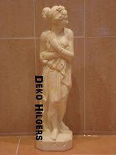 Atemberaubende Figur Akt Frau Skulptur Auf Alt Statue Stuckgips Optik Crem 0329