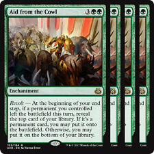 Aid from the Cowl X4 NM Aether Revolt Green Rare