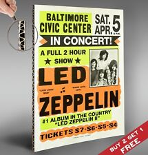 LED ZEPPELIN Baltimore Gig Concert Poster *Glossy A4 Print Vintage Music Picture