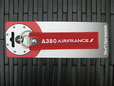 AIRFRANCE Airbus A380 tag REMOVE BEFORE FLIGHT keyring keychain pilot crew RED