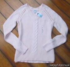 OLD NAVY ~ New NWT ~ Size Small ~ Soft Baby Pink Cableknit V Neck Sweater