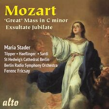 CD MOZART GREAT MASS C MINOR K 427 EXULTATE JUBILATE MARIA STADER FRICSAY BERLIN