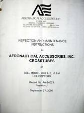 Aeronautical Accessories Crosstubes on Bell 206L Inspection & Service Manual