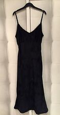 Monsoon Black Pure Silk Floral Sequin Slip Dress Nightdress 12 40