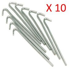 "10 x 9"" GALVANISED STEEL TENT PEGS METAL CAMPING QUALITY TENT PEGS"
