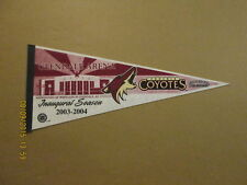 NHL Phoenix Coyotes Glendale Arena 2003-2004 Pennant