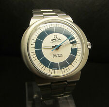 Omega Dynamic Geneve Date Blue Cape Automatic Swiss Watch