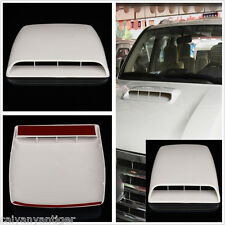 White Car Decorative Vent Bonnet Cover Air Flow Intake Hood Scoop Vent Universal