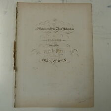 Antico CHOPIN VALSE OP. 29 / 25, 1st Edition Schlessinger 1838, 11 pagine