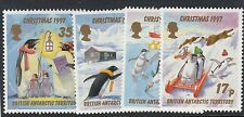 BIRDS:1997 BRITISH ANTARCTIC TERRITORY Christmas  set  SG276-9 unmounted mint