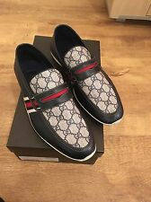 Gucci Men's Loafer Navy Blue Casual Shoes UK 8.5 With Box And Dust Bag