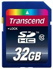 SDHC SD 32GB Class 10 Memory Card by Transcend for Canon EOS 600D, 1100D SX510