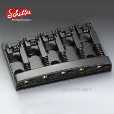 NEW Schaller 3D-5 5 String Bass Bridge with Roller Saddles - BLACK CHROME