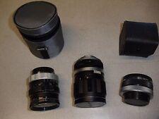 3 Soligor Lens: Wide-Auto1:2.5 f=28mm;Tele-Auto1:2.8 F=135mm; Converter