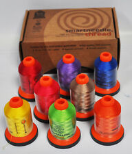 Smartneedle Embroidery Threads Collection 8 Colors With A Bobbins Brights