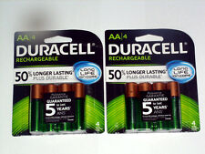 DURACELL RECHARGEABLE BATTERIES AA (2 Pack - 8 Batteries*NEW)