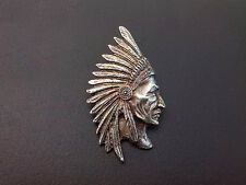(It) Indian Motorcycle Chieftain, Chief Classic, Vintage Biker Metal Badge Pin