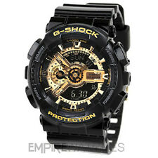 **NEW** CASIO G-SHOCK MENS BLACK GOLD SPORTS WATCH - GA-110GB-1AER - RRP £130