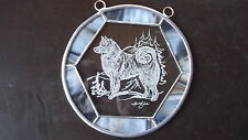 Finnish Spitz - New Design, gorgeous Hand engraved panel  by Ingrid Jonsson