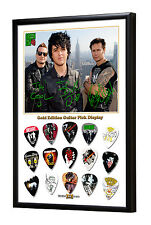 Green Day Framed Gold Edition Guitar Pick Display Plectrums ( Code S )
