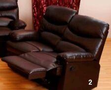 Divano 2 posti recliner reclinabile relax Diany colore marrone arredo ufficio