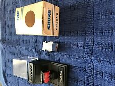 SHURE V15 TYPE III CARTRIDGE AND GENUINE SHURE VN35MR MICRORIDGE STYLUS IN CASE