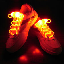 Christmas LED Light Up Glow Shoelaces Decor Flash Shoestring Shoe Lace Party