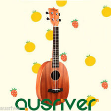 Wooden Pineapple Shape Concert Ukulele Four String Hawaiian Guitar Beginner Gift