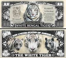 TIGRE BLANC du BENGALE - BILLET MILLION DOLLAR US! COLLECTION Animal Félin Tiger