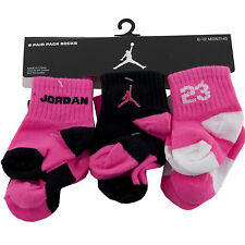 6 Pair Nike Air Jordan Jumpman 12-24 Months Infant Baby Booties   Boys Girls