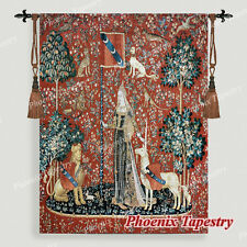 """The Lady & Unicorn Medieval Fine Art Tapestry Wall Hanging - TOUCH, 55""""x42"""", US"""