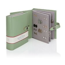 Large Little Book Of Earrings Green 4 Page Jewellery Storage Box Book Xmas Gift