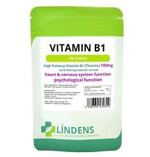 Lindens Vitamin B1 Thiamin 100 Tablets B 1 B-1 Thiamine Quality Supplement