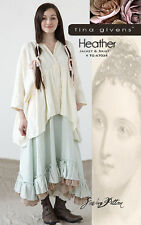 Heather TG-A7034 Sewing Pattern 2 pcs. by Tina Givens- Lagenlook Style!
