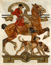 Leyendecker Fox Hunting Print 11 x 14   #3504