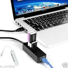 Micro USB to Network LAN Ethernet RJ45 Adapter 3 Port USB 2.0 HUB Adapter White
