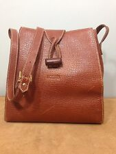 LOEWE Full Grain Leather Shoulder Tote Bag Purse Goldtone Made In E.E.C