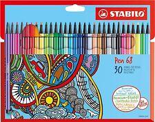 STABILO Pen 68 - Premium-Filzstifte - 30er Karton Etui   6830-7
