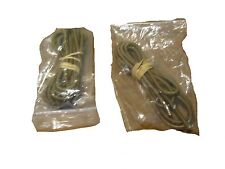 "LOT OF 2 US MILITARY SURPLUS 3/16"" COYOTE BROWN 6 FOOT LONG BUNGEE CORDS ONLY"