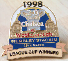 CHELSEA v MIDDLESBROUGH 1998 Victory Pins LEAGUE CUP FINAL Badge Danbury Mint